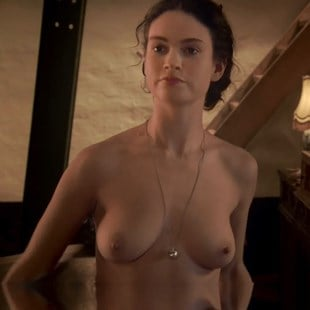Lilly James Topless photo 7